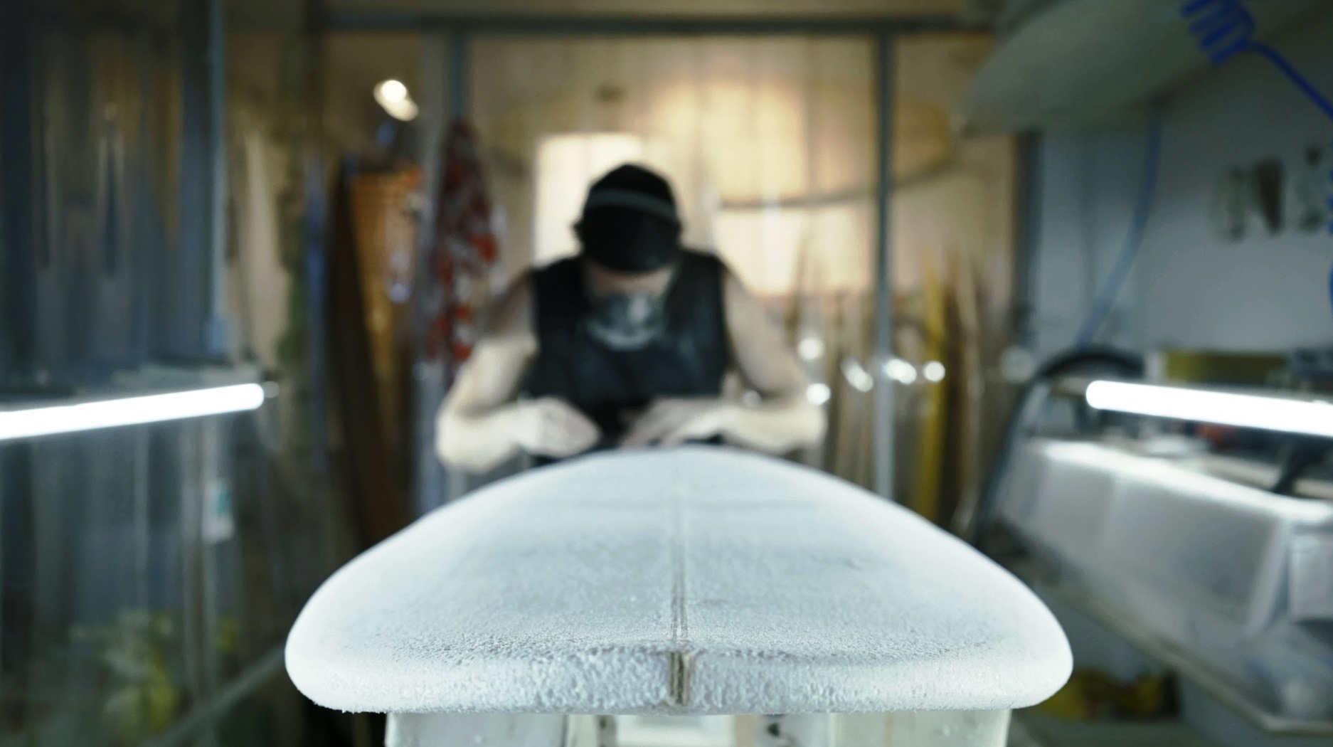 Makara surfboard shaper Chris Tilbe
